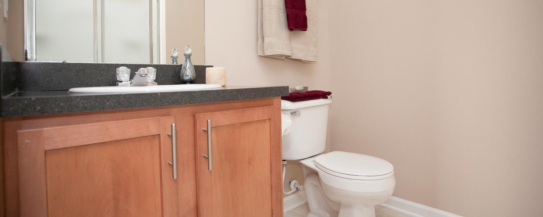 LC Preserve Crossing | Gahanna Apartments | Bentley Flat Bathroom