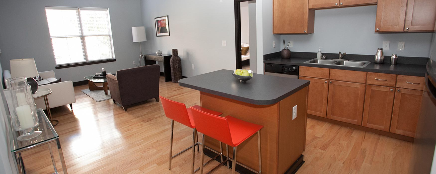 LC RiverSouth | Downtown Columbus Apartments | Georgetown Kitchen