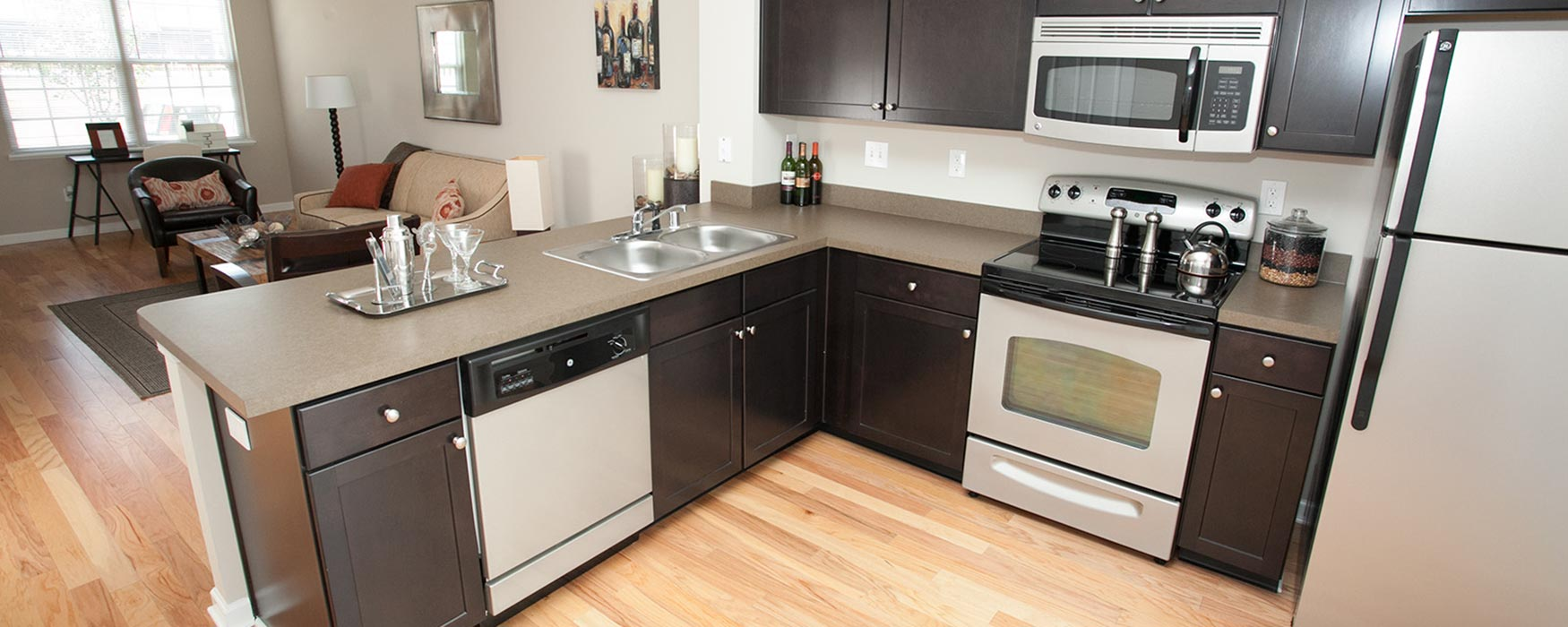 LC The Mill | Georgetown Apartments | Bentley II Kitchen